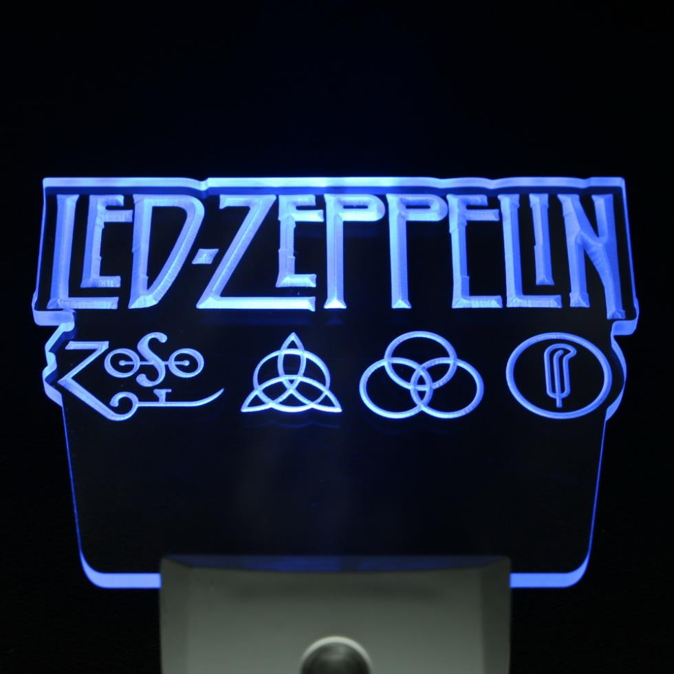 ws0061 Led Zeppelin Rock n Roll Punk Day/ Night Sensor Led Night Light Sign
