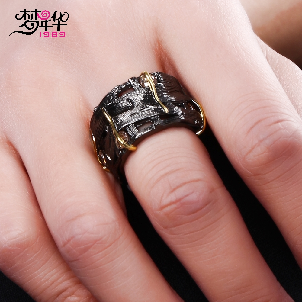 DreamCarnival 1989 Designer Gothic Ring for Women Vintage Hollow ...