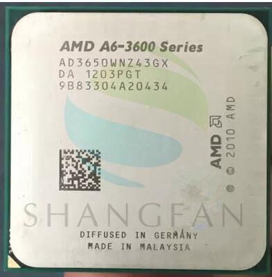 AMD A6-3600 A6 3650 A6-3650 2.6 GHz 100 W quad-core CPU procesador AD3650WNZ43GX socket FM1/905pin