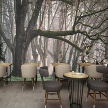 3D Wall Mural Wallpaper Modern Art Wall Painting Elk Forest Trees