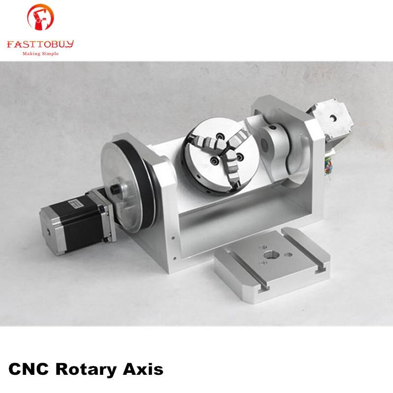 K01 3 Jaw Chuck CNC Rotary Axis CNC Dividing Head 5th A axis Ratio 6 1