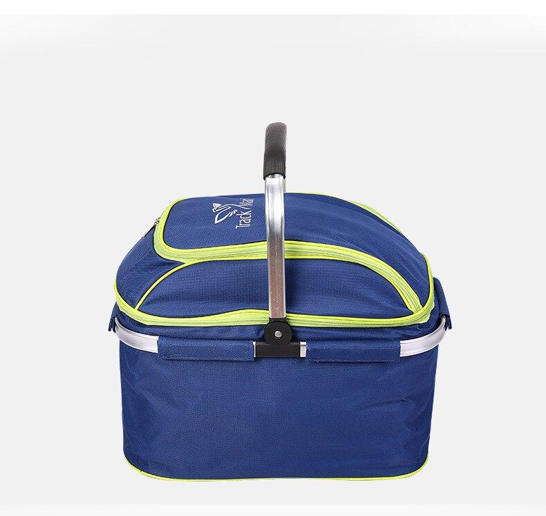 Outdoor picnic basket picnic bag ice pack insulation bag cooler box food basket, Handheld basket