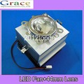 20-100W LED Aluminium Heat Sink Cooling Fan+  Reflector Bracket+60degreen 44mm Lens