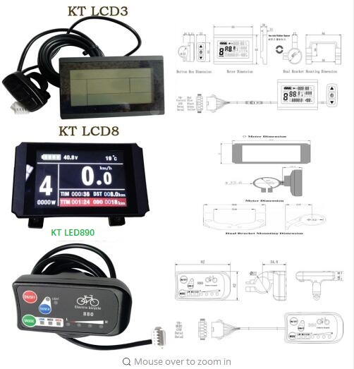 Ebike Kunteng Intelligent Kt Lcd6 Control Panel Display Electric Bicycle Bike Parts Kt Accessories
