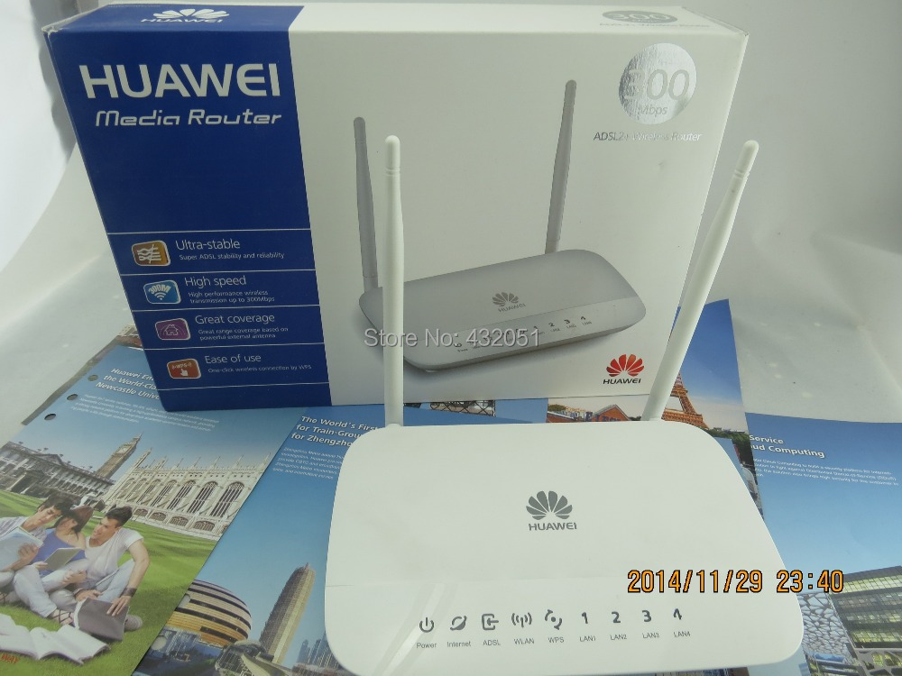 Free shipping Huawei HG532D ADSL wireless router machine cat wall Wang dual antenna WIFI 300M Specials specials 100