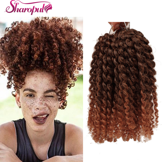 3pcs Lot Afro Kinky Curly Mali Bob Crochet Braids Twist Braiding Marley Braid Synthetic Hair