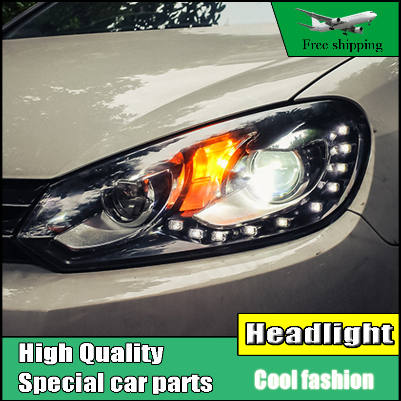 Car Styling Head Lamp Case For VolksWagen Golf 6 MK6 Headlights 2009-2013 LED Headlight DRL Bi Xenon Lens High Low Beam Parking akd car styling for nissan teana led headlights 2008 2012 altima led headlight led drl bi xenon lens high low beam parking