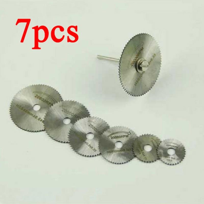 7 SZTUK Tarcze Tnące HSS Tarczowe Pilarki tarczowe Narzędzie - Narzędzia ścierne - Zdjęcie 1