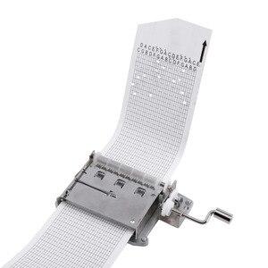 Image 4 - 30 Note Mechanical ดนตรีกล่องเทป Hand Crank Music BOX การเคลื่อนไหว + Puncher 3 แถบ DIY เพลงที่สมบูรณ์แบบชุดของขวัญร้อน