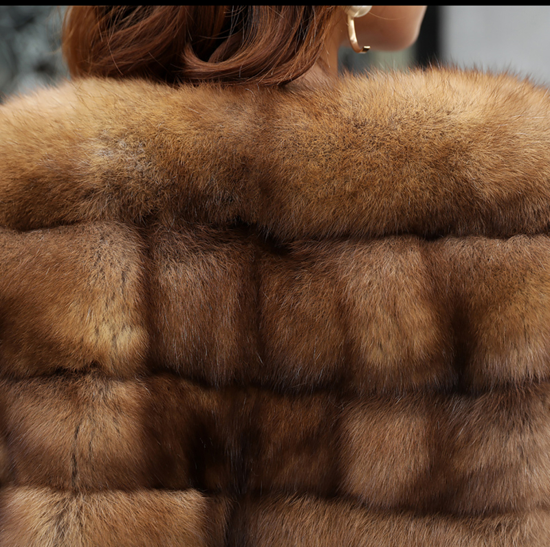 Real Sable Whole Mink Fur Women Slim Regular Coat Martes Zibellina Mink Fur Jacket Porpular Mink Fur Jackets & Coats Back To Search Resultswomen's Clothing