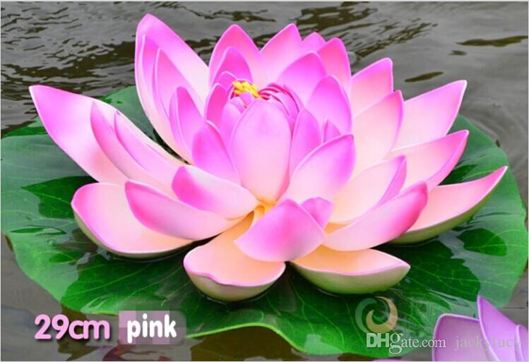 Diameter 60cm large artificial lotus flower floating pool decoration when place order please tell us the colors you want or we will send you mixed colors available mightylinksfo Image collections