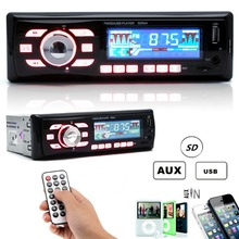 6086 Negro Car Audio Estéreo 12 V Control Remoto FM Radio estéreo Reproductor de MP3 WMA AUX USB SD MMC