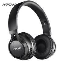 Mpow MPBH036BB Bluetooth Kopfhörer, über ohr, faltbare, Wireless Stereo mit Weichen Protein Ohrpolster, Mic, drahtlose und Draht