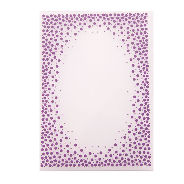 Dot Embossing Folder for Card Making Floral DIY Plastic Scrapbooking Photo Album Card Paper DIY Craft Decoration Template