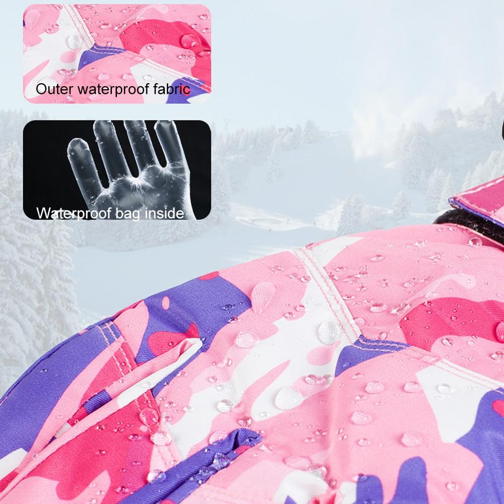TENNEIGHT Hiver Chaud Gants de Ski Hommes Coupe-Vent Tactile Écran Gants De Neige Motoneige Étanche gants D'équitation Snowboard Gants - 3