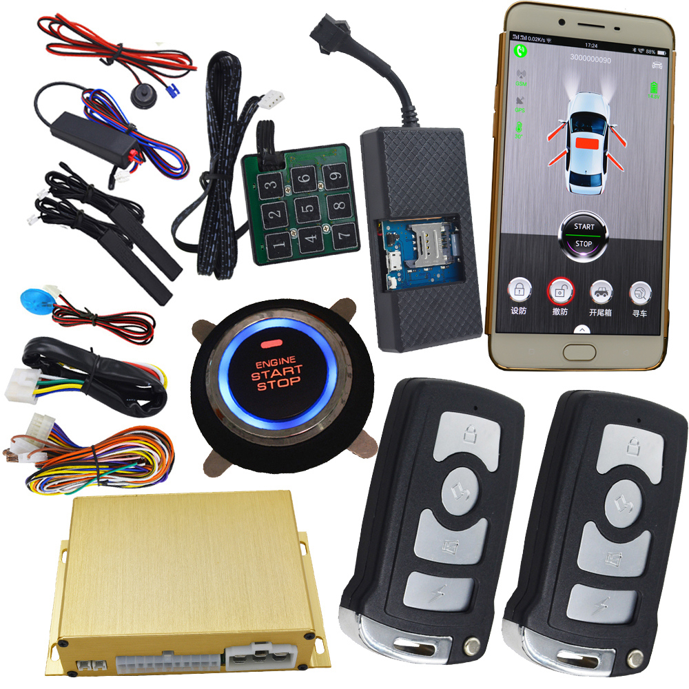 gsm smart key car alarm system with realtime online gps. Black Bedroom Furniture Sets. Home Design Ideas