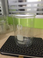 1Pcs 1000ml Glass Transparent Beaker Graduated Borosilicate Glass Beaker School Laboratory Supplies