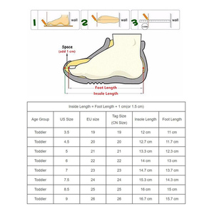 Image 5 - Apakowa Toddler Girls Summer Spring Sandals Leather Lining Kids Closed Toe Ankle Strap Sandals Girls Flat Casual Shoes for Girls