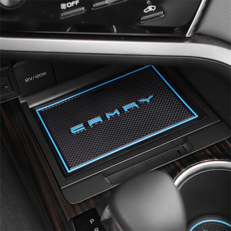 Blue R RUIYA 2017 2018 2019 Honda CRV Car Cushion Non-Slip Gate Slot Pad Cup Mat Car Interior Door Slot Pad Automotive Decoration 21pcs//Set