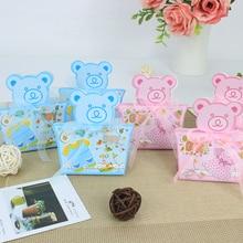 AVEBIEN милый медведь ребенок душ коробка для конфет мальчик и девочка день рождения украшения Детские сувениры шоколадная бумажная коробка 50 шт