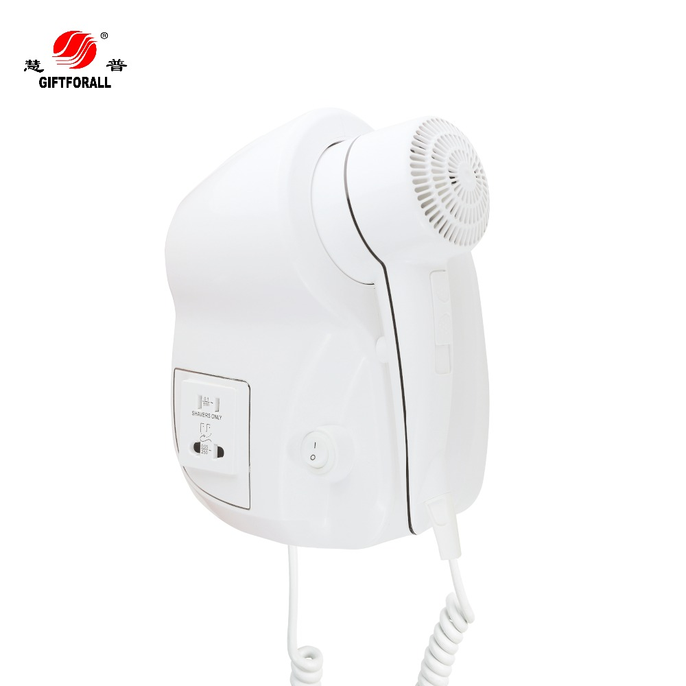 GIFTFORALL Hair dryer hot and cold Bathroom Hotel Home Hair Dryer Professional Styling Powerful Wall Mounted Portable D139