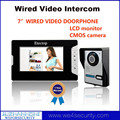 "7"" LCD Screen Color Door Phone Camera Wired Video Doorphone Home Doorbell Support Calling Voice Talking Unlocking Monitoring"