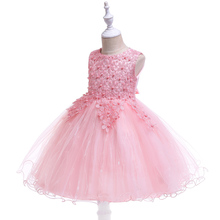 Free Shipping Cotton Lining  baby girl dresses 2019 New Arrival Formal little girls clothing 1 year birthday dress