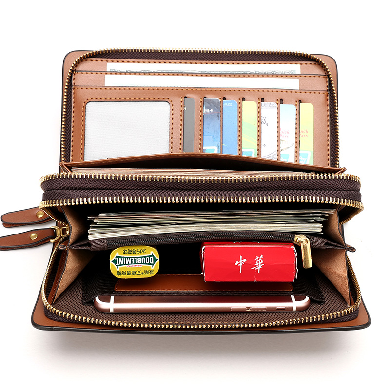 Luxury Wallets Zipper PU Leather Male Purse Business Men Long Wallet Designer Brand Mens Clutch Handy Bag Carteira Masculina luxury brand wallet male mens leather card holder business billfold zipper purse wallets men coin clutch carteira masculina zer