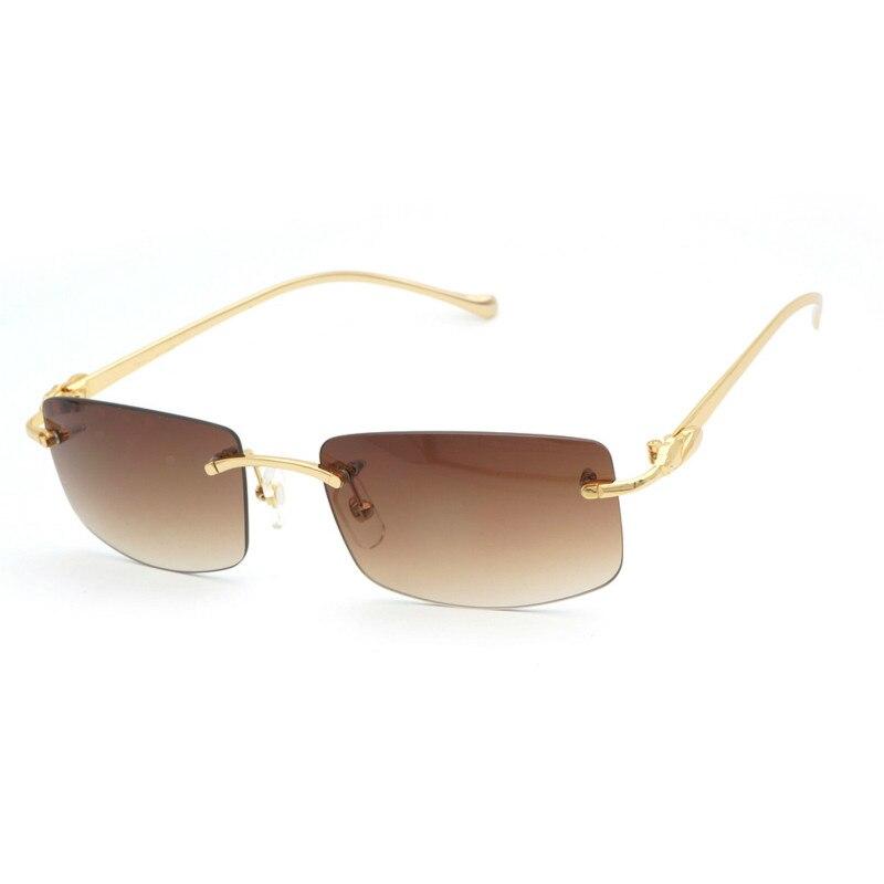Vintage lunettes de soleil sans monture Léopard lunettes de soleil lunettes rétro Hommes Lunettes pour Conduite Clair Lunettes Cadre pour La Lecture Lunettes 166