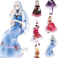 NEW High Quality Special Ink Lolita Girls Japanese Decorative Adhesive DIY Masking Paper Washi Tape Label