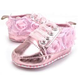 Для маленьких детей ясельного возраста Sapato младенческой розы мягкой подошвой девушка первые ходунки ручной работы детские дизайнерская