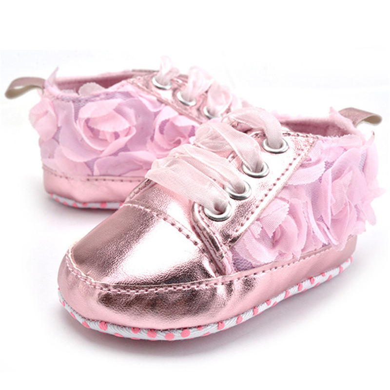 Baby Kids Toddler Sapato Infant Rose Flower Soft Sole Girl First Walker Handmade Baby Designers Shoes Style Wholesale