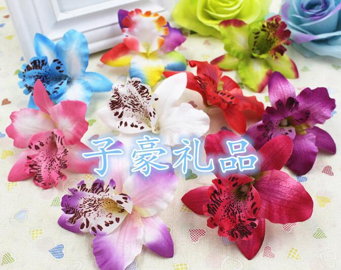 Acheter Papillon Orchidée 50 pcs/lot Taille 7 cm Simulation Fleur En Soie/DIY De Mariage Artisanat Décoration Fleur/Muti couleur mélanger de silk flowers fiable fournisseurs