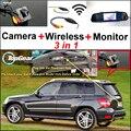 Для Mercedes-Benz GLK Class X204 3in1 Origial Отверстие Автомобиля камера и Беспроводной Приемник и Экрана Зеркала Заднего Вида Парковка система