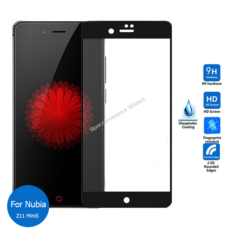 For Nubia Zte Z11 MiniS Full Cover Tempered Glass screen Protector 9h All Body Safety Protective glass on Z11Mini Z 11 Mini S