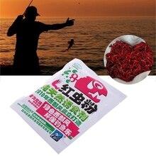 цена на 40g Blood Worm Flavor Additive Carp Fishing Feeder Bait Boillie Making Material  Bait powder  for fishing