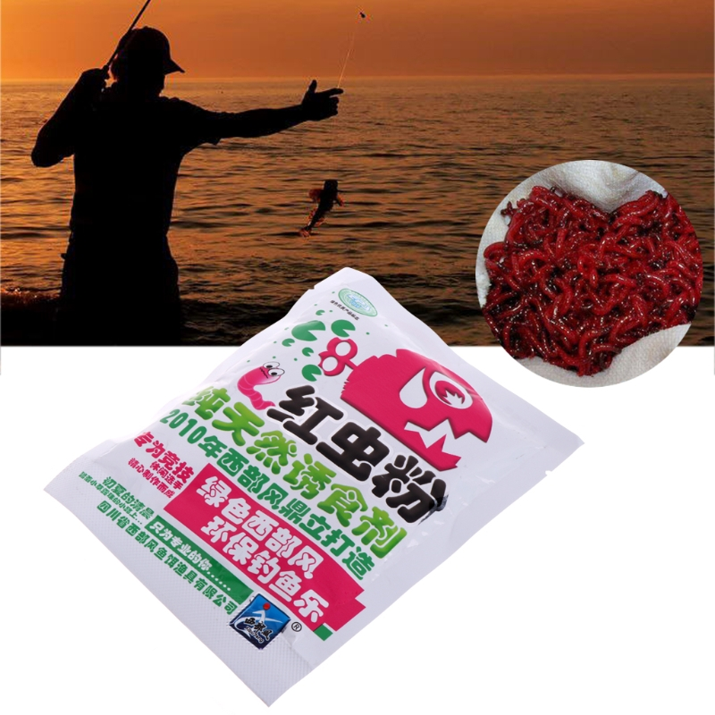 40g Blood Worm Flavor Additive Carp Fishing Feeder Bait Boillie Making Material Bait powder for fishing image