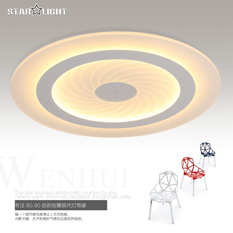 Modern LED Ceiling Light Round Swirl Pattern Living Room Lamp Acrylic New Energy Efficient Home Luxury Decor Lighting In Lights From