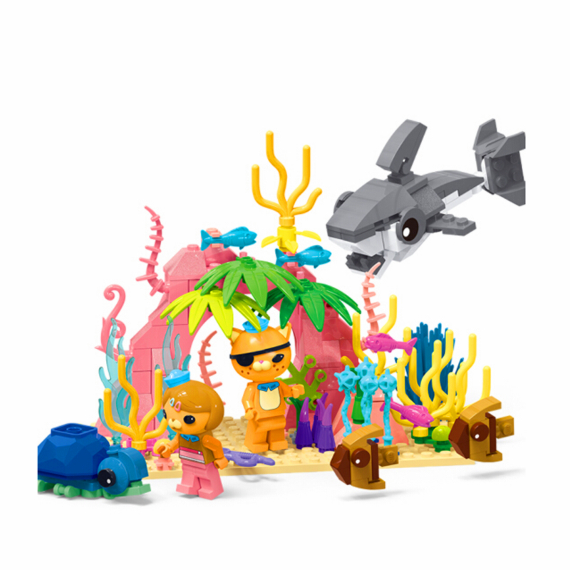 Octonauts Kwazii Dashi Coral Cave Adventures Figure Building Blocks Sets Bricks Classic Model Kids Toys Compatible Legoings