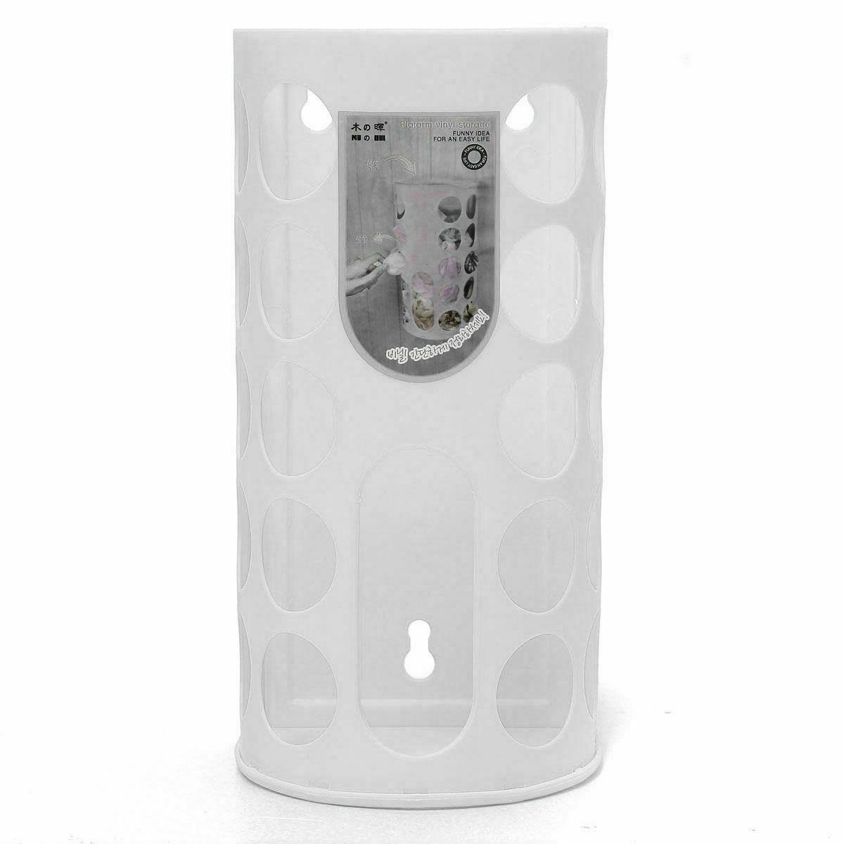 Пластиковый пакет настенный диспенсер монтируемый мешок для мусора корзина для хранения настенный ящик для хранения мусора для домашнего кухонного органайзера - Цвет: 1