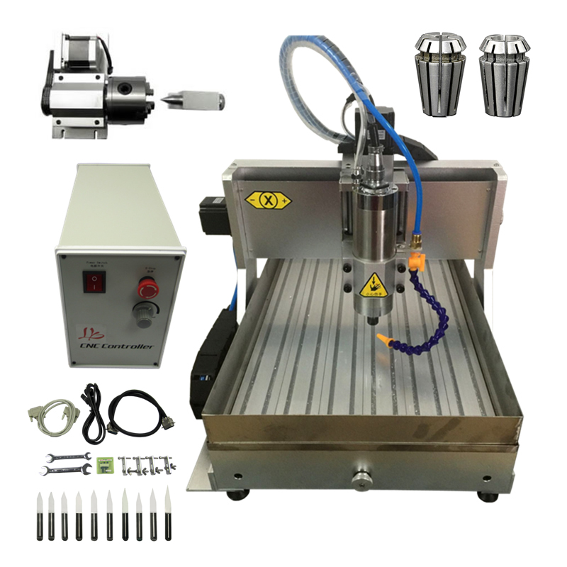 1500W Desktop Metal CNC Engraving Machine 4 Axis 3040 CNC Router Cutter with Water Tank for Stone Milling1500W Desktop Metal CNC Engraving Machine 4 Axis 3040 CNC Router Cutter with Water Tank for Stone Milling