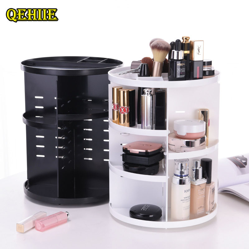 Cosmetic storage rack rotating All-round storage of cosmetics Travel Organizer Pack Make Up Box vanity Beautician makeupe bag