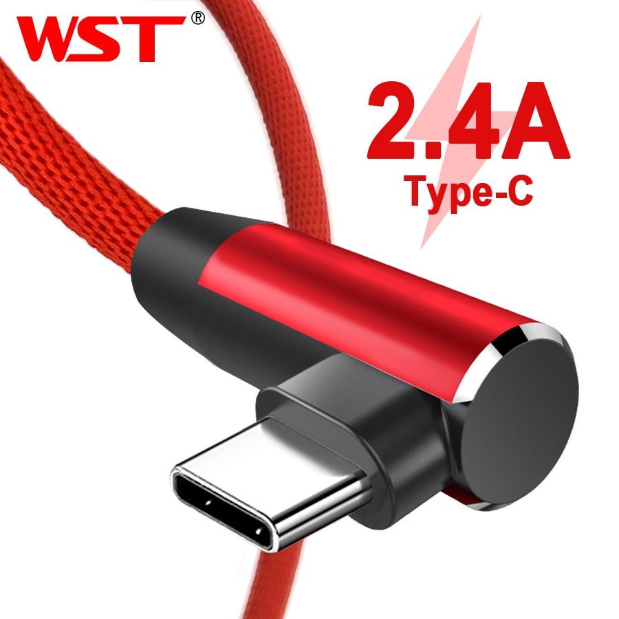 Billiger Preis 2019 Wst Usb Typ C Kabel 2.4a Usb C Kabel Für Huawei Samsung Xiaomi Mi5 Mate 20 Telefon Kabel Ladegerät Schnelle Lade Typ-c Kabel