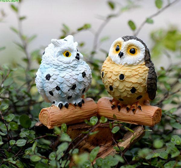 Owl Fairy Miniatures For Terrariums Decoraciones Miniatura Terrarios Buhos Owl  Garden Decor Flower Pots Micro Landscape
