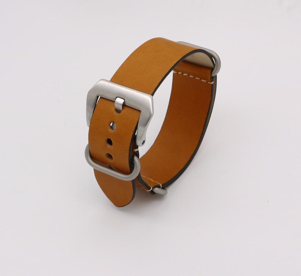 24mm Lumină maro închis Negru Verde Roșu VINTAGE Bandă ceas curea - Accesorii ceasuri - Fotografie 4