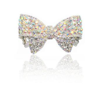 Wholesale 6 pairs Crystal Decorations Women Shoes  Accessories DIY Shoe Charms Jewelry Bowknot Shoes Decorations