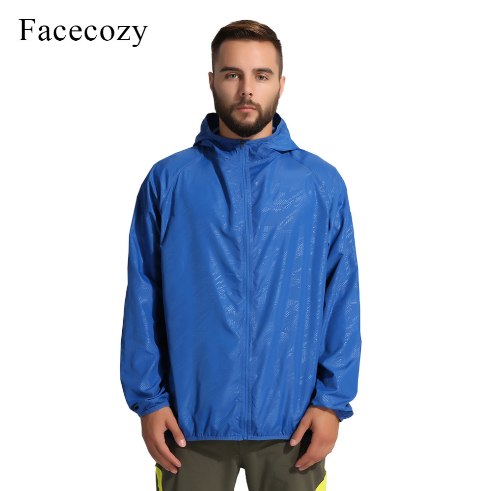 Facecozy Summer Men&Women Outdoor Waterproof Skin Jacket Fishing Breathable Solid Coat Anti-UV Quick Dry Camping Hiking Clothing