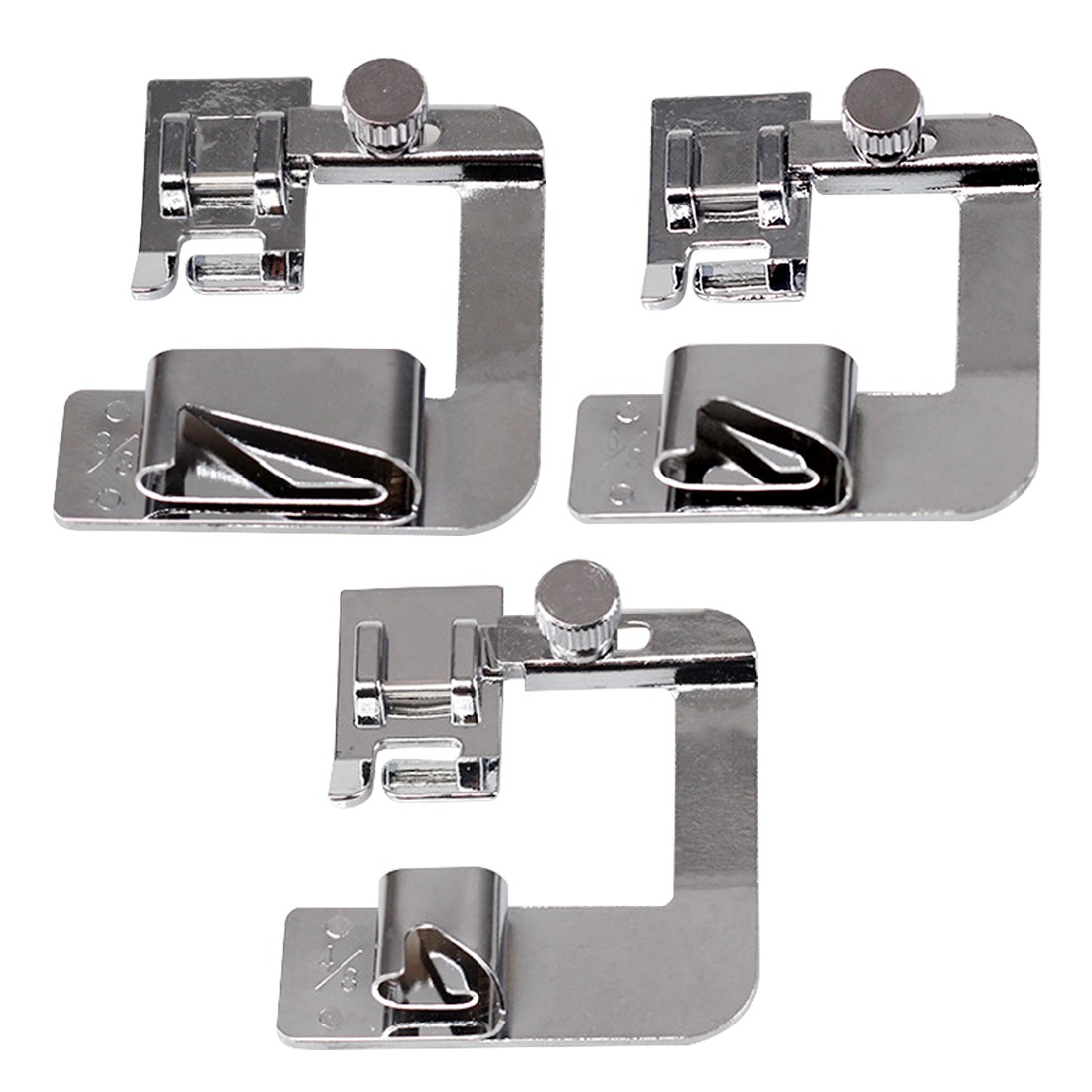 Household Hemming Cloth Strip Presser Foot Sewing Machine Parts Hemmer Foot Rolled Hem Foot for Singer Brother Sew Accessories