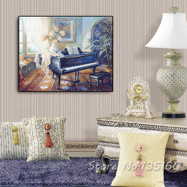 Aliexpresscom Buy Home Interior Decor Oil Canvas Painting