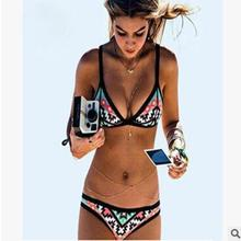 Women Sexy Bikini Set Bandage Swimwear Triangle Bathing Suit Push-up Swimsuit